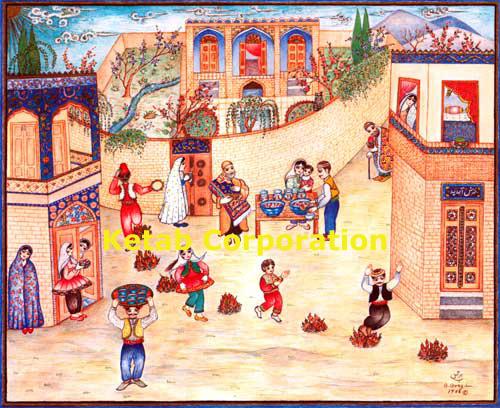 Qajar Woman by Shakiba RL5 Metal Print by Salma